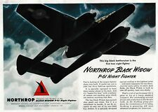 1944 Northrop P-61 Black Widow Aircraft ad 1/20/19g