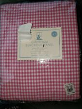Pottery Barn Kids Gingham Blackout Panel Pole Pocket Curtain Drape 63 x 44 New