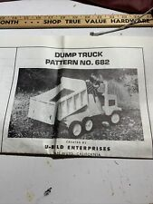 U-Bild Enterprises Woodworking Dump Truck Pedal Car Plan No. 682