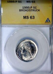 1996 Error HUGE BROADSTRUCK Jefferson Nickel GEM BU + QUARTER SIZE BS Coin  NR