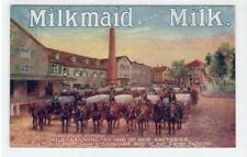MILKMAID BRAND MILK: Tuck celebrated posters advertising postcard (C34323)