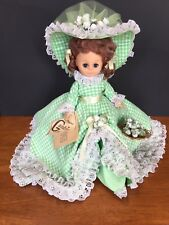 Scarlet Southern Bell Gambina Doll Wearing Green Gingham Check Dress