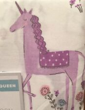 NWT Pottery Barn Kids MAGICAL UNICORN queen sheets **Organic** cotton