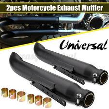 2tlg 20″ Motorrad Cafe Racer Auspuff Endtopf Auspuffanlage mit Halterung   ♣