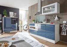Jarklow Küchenzeile Küchenblock Weiß Blau