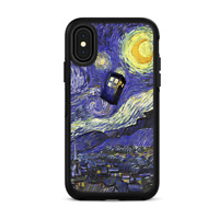 Skins for iPhone X Otterbox Defender Stickers - Tardis Starry Night