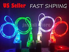 LED light-up USB charger cable cord  FOR use with iphone 5S 5 5C 6 7 Plus