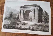 1 Engraving - ARCO TRIONFALE D'AUGUSTO PRESSO LA CITTA D'AOSTA - 1800s