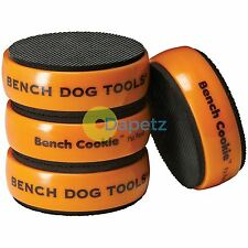 "4Pk Bench Cookie Work Grippers - 3"" X 1"" Rubber Surfaces Durable Core"