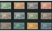 New Hebrides French 1938 Gold Currency Set of 12 Stamps SG F53/64 MVLH (7-8)
