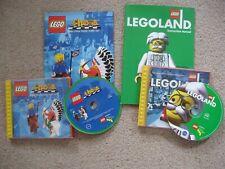 Lego Schach & Legoland CD-Rom Spiele offiziellen Lego Fällen 1998/2000 mit Handbücher