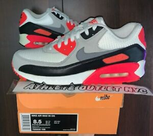 """New Nike Air Max 90 """"Infrared"""" 2015 Men's Size 8.5 Athletic Sneakers 725233-106"""