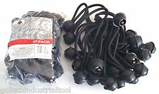 "50 GOLIATH INDUSTRIAL 6"" BALL BUNGEE BB256 TIE DOWN CANOPY TARP STRETCH CORDS"