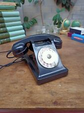 TELEPHONE ANCIEN DE LA PTT EN BAKELITE NOIRE VINTAGE U43