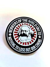 Karl Marx Enamel Pin Badge - Workers Of The World Marxist Socialist Communist