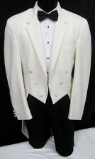 "Ivory Off-White Chaps Ralph Lauren ""Hudson"" Tuxedo Tailcoat Wedding Prom 40L"