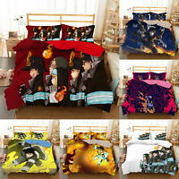 Fire Force Bedding Set 3PCS Of Duvet Cover Pillowcases Comforter Cover US Size