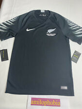 New Mens Size Small Black Nike New Zealand Football Authentic Jersey