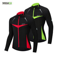 Men's Cycling Jacket Winter Windproof MTB Road Team Bike Coat Long Sleeve Jersey