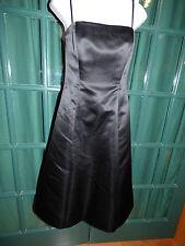 BC BG MAXAZRIA BLACK POLYESTER SATIN STRAPLESS COCKTAIL DRESS SIZE 4