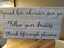 Wooden Signs~ Set Of 3 ~ SHABBY CHIC