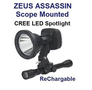GUN SCOPE MOUNTED HUNTING LED SPOTLIGHT RECHARGEABLE SPOT LIGHT SPOTLIGHTING