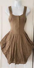Womens All Saints Khaki Bustle Hitched Victorian Goth Steampunk Parachute Dress6