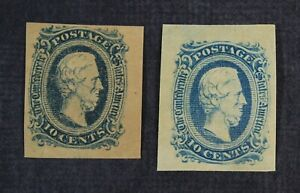 CKStamps: US Confederate States Stamps Collection Scott#11 Mint H OG 2 Shades