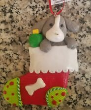 Ashland Puppy Dog Christmas Stocking Pet Clay Dough Ornament Personalize Name