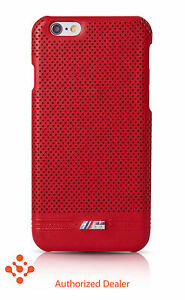 """Official BMW iPhone 6/6s 4.7"""" Leather (BMHCP6MPERE) Hard Case -  Red"""