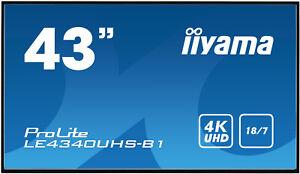 "IIYAMA ProLite Display Monitor LE4340UHS-B1 43"" 4K UHD Speakers Signage Screen"