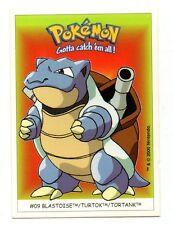 Pokémon Gotta catch'em all n° 09 - BLASTOISE - TURTOK - TORTANK  (A4698)