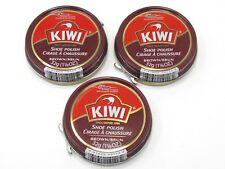 Kiwi Brown Shoe Polish 1 1/8oz 32g  3 Cans