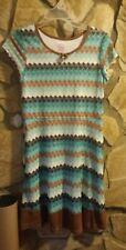 EUC Faded Glory Girls Lined Dress Size 14-16 Church Summer Fashion Knit Lacey