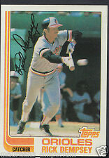 Topps 1982 Baseball Card - No 489 - Rick Dempsey - Orioles