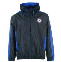 XL Mens CHELSEA FC Hooded Shower Jacket Football Hoodie Rain Coat Top