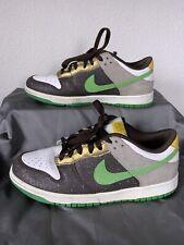 2008 Nike Dunk Low NKE 6.0 Shoes Sz 7.5 Dark Cinder Hyper Verde 314142-232