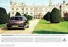 PUBLICITE ADVERTISING 096  1994  Renaultf  (2p)   la Clio Baccara