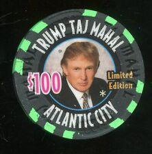 $100 TRUMP Taj Mahal RARE Millennium Atlantic City Casino Chip Donald Trump Prez