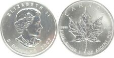 CANADA 1 oz 2007 - value 5 Dollars - Maple leaf - UNC - pure silver