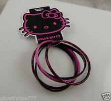 Hello Kitty Pink thin rubber bracelets leopard bow Sanrio