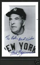 Fred Fitzsimmons signed photo autograph NRMT with COA