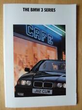 BMW 3 Series Saloon 1991 1992 UK Market prestige brochure prospekt - E36
