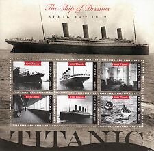 Uganda 2012 MNH Titanic 100th Anniversary 6v M/S RMS Boats Ships Stamps