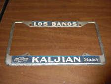 Los Banos California Kaljian Chevrolet Buick metal  License Plate Frame holder