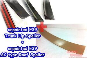 Unpainted BMW 97-03 E39 5-series A type roof spoiler + trunk lip spoiler ◎