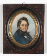 """Gentleman with ribbon of Legion of Honor"", Large French Miniature, 1833"
