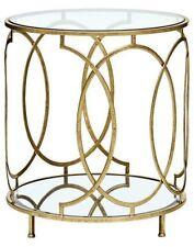 Beistelltisch Tisch Couchtisch Metalltisch Glastisch Metall/Glas Farbe: Gold