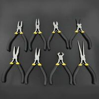 1pc Mini 7'' Bent Nose Grip Pliers Jewellery Bead Hobby Craft Hand DIY Tool gE