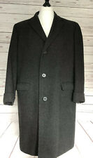Mens Aquascutum Vintage Wool Coat Grey Herringbone 40R (Cut Like 42/44)